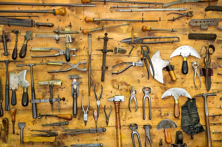 woodworking tools organized