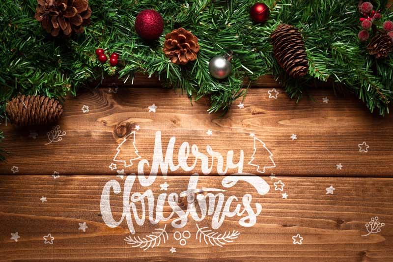 wood christmas sign